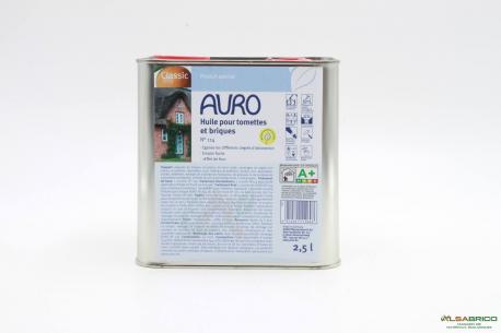 Huile pour tomettes et briques n°114 AURO - Pot de 2.5l face