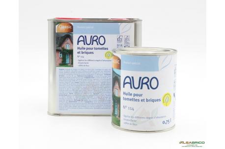 Huile pour tomettes et briques n°114 AURO - Groupe 2 conditionnements