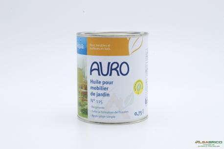 Huile pour mobilier de jardin Aqua n° 115 AURO - Pot de 0.75l face