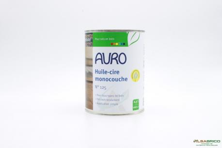 Huile et cire monocouche n°125 AURO - Pot de 2.5l Face