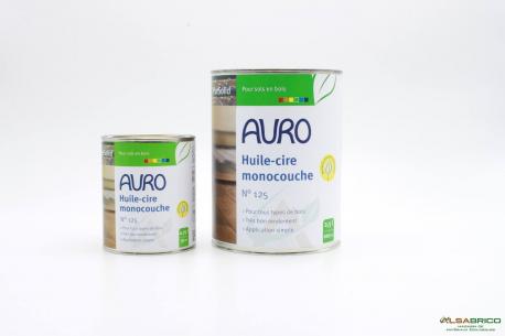Huile et cire monocouche n°125 AURO - Groupe 2 conditionnements
