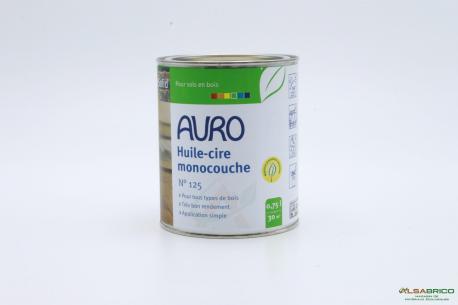 Huile et cire monocouche n°125 AURO - Pot de 0.75l face