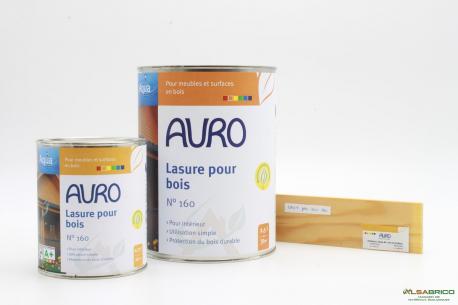Lasure pour bois n°160 AURO - Teinte incolore - Conditionnements