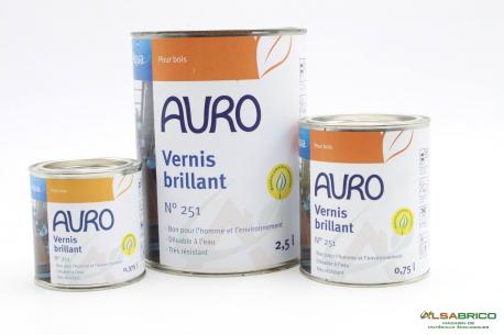 Vernis brillant pour meuble et objet bois n°251 AURO - Groupe 3 conditionnements