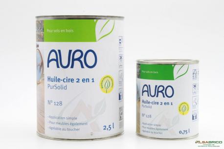 Cire aux huiles naturelles sans solvant (2 en 1) n°128 AURO - 2 conditionnements